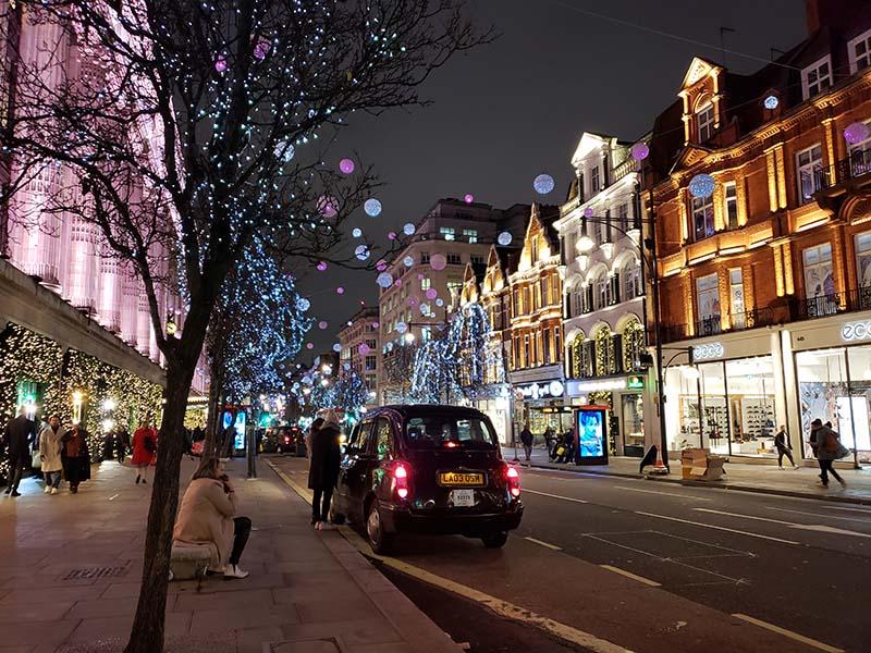 oxford street durante o natal em londres