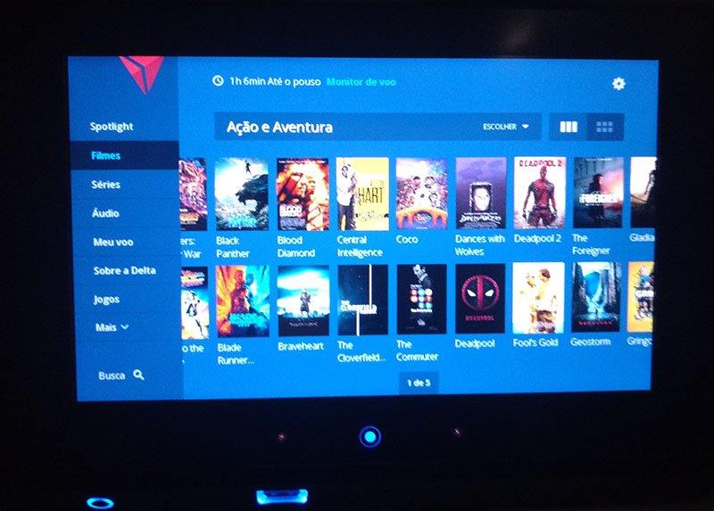 painel entretenimento delta airlines