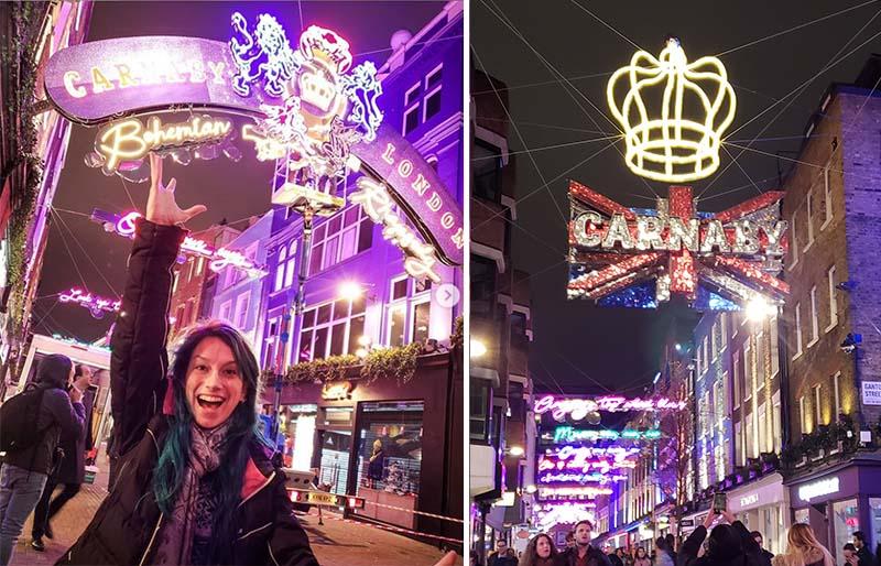 rua iluminada londres queen bohemian rhapsody