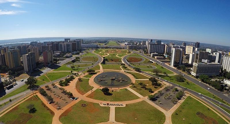 vista da torre de tv panoramica em brasilia