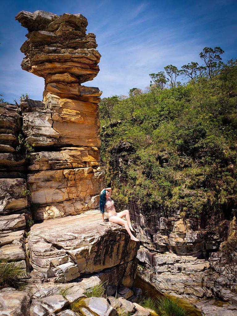 cachoeira pedra ancorada em capitolio
