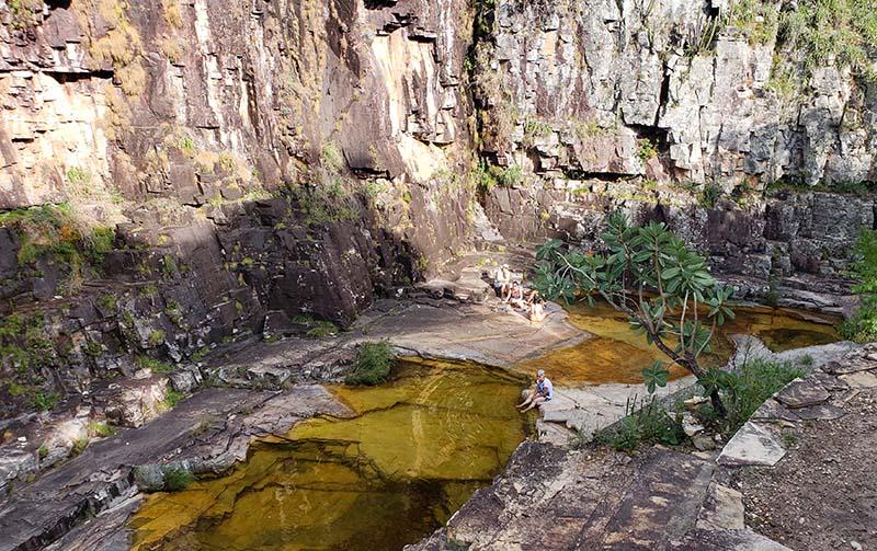 cachoeira proxima ao mirante dos canions