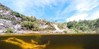 cachoeira paraiso achado foto meio a meio dome