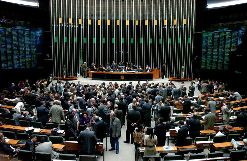 plenario camara dos deputados em brasilia