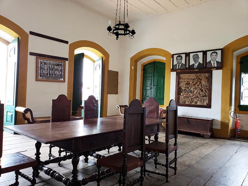 Móveis antigos da Câmara de Vereadores