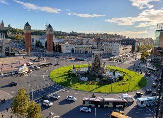 Praça da Espanha em Barcelona