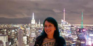 sozinha em nova york empire state top of the rock