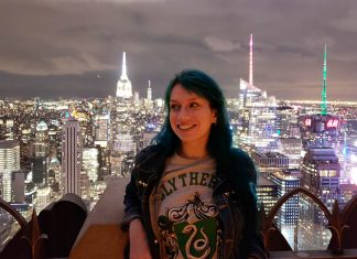 sozinha em nova york empire state top of the rock