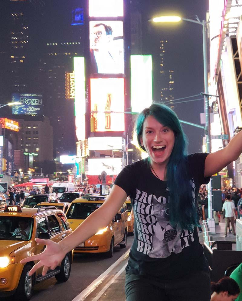 times square dicas para viajar sozinha para nova york