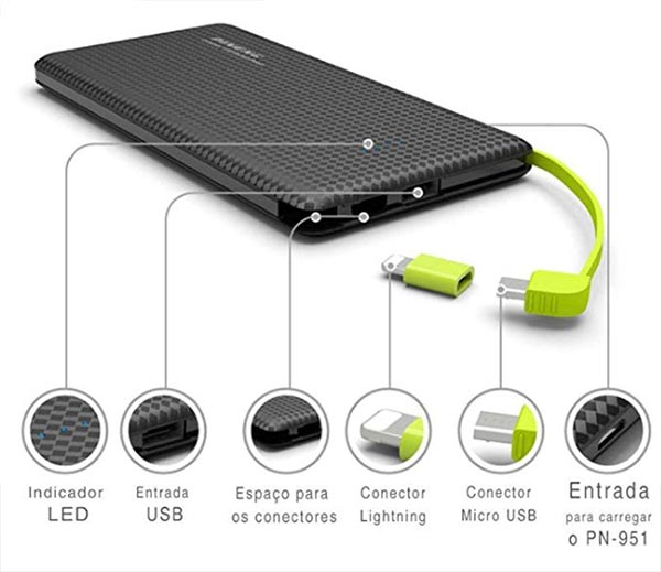 carregador portatil para celular power bank
