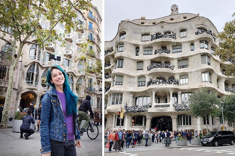 casa battlo e casa mila em barcelona obras de gaudi