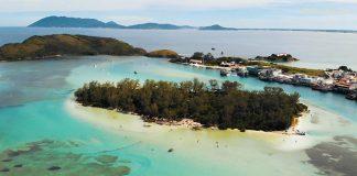 Vista aérea da Ilha do Japonês