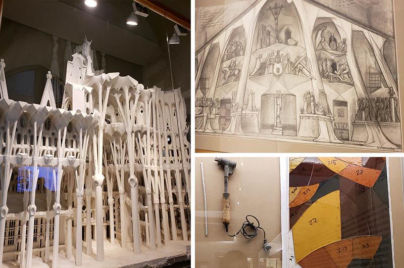 Maquete e desenhos do projeto do templo expiatório