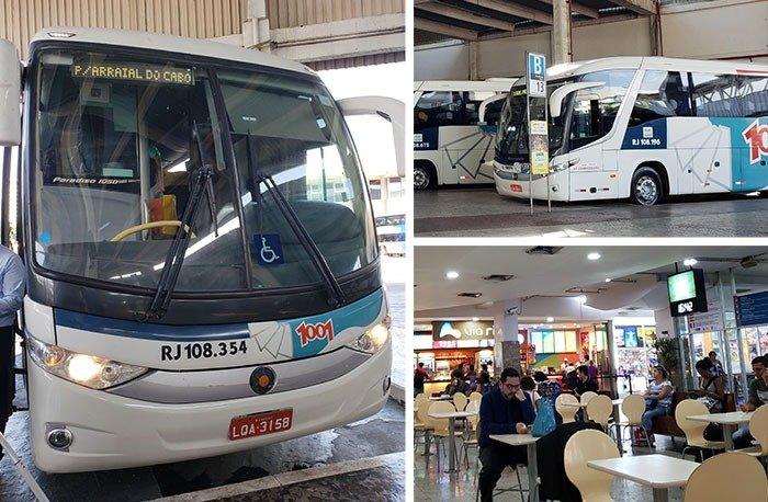 ônibus para Arraial do Cabo da Rodoviária Novo Rio
