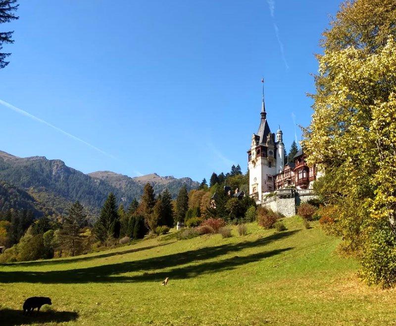 Paisagens lindas da Transilvânia na Romênia