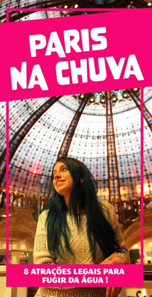 O que fazer em Paris na chuva, atracoes para visitar