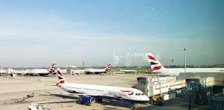 Terminal da British Airways no aeroporto Heathrow em Londres
