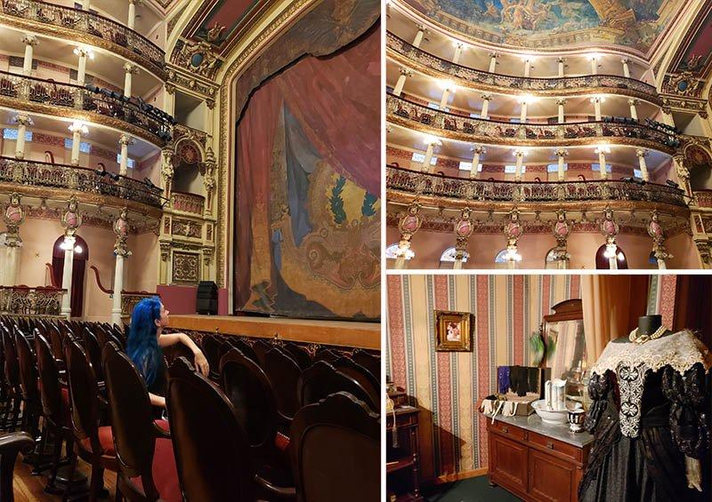 Teatro Amazonas durante o tour guiado