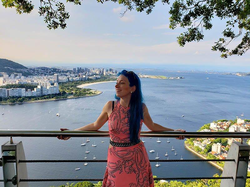Mirante para a Baía de Guanaraba e aeroporto Santos Dumont