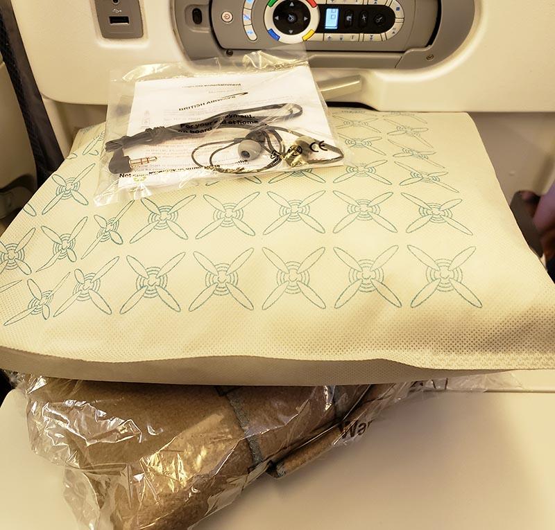 Kit conforto da British Airways