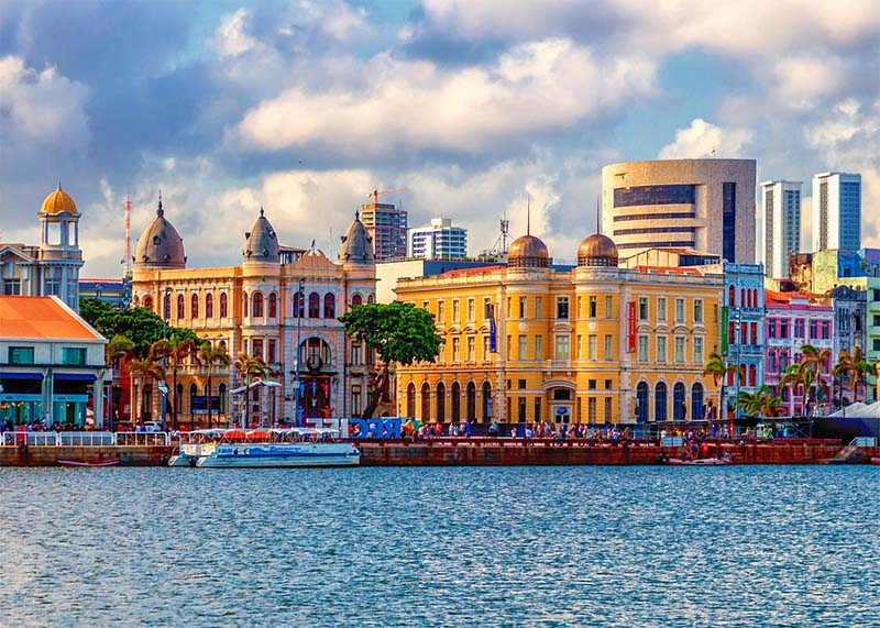 centro histórico de recife colorido