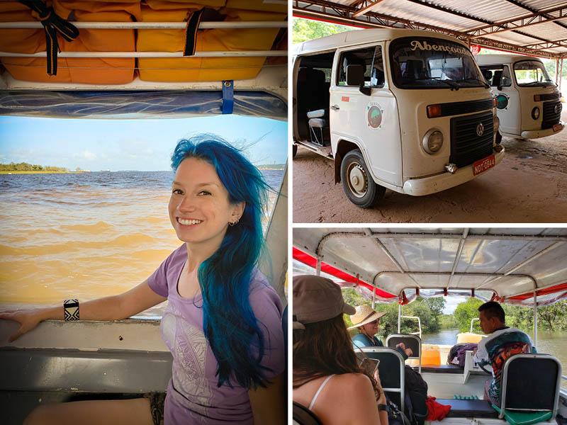Encontro das águas e transporte até o lago Juma