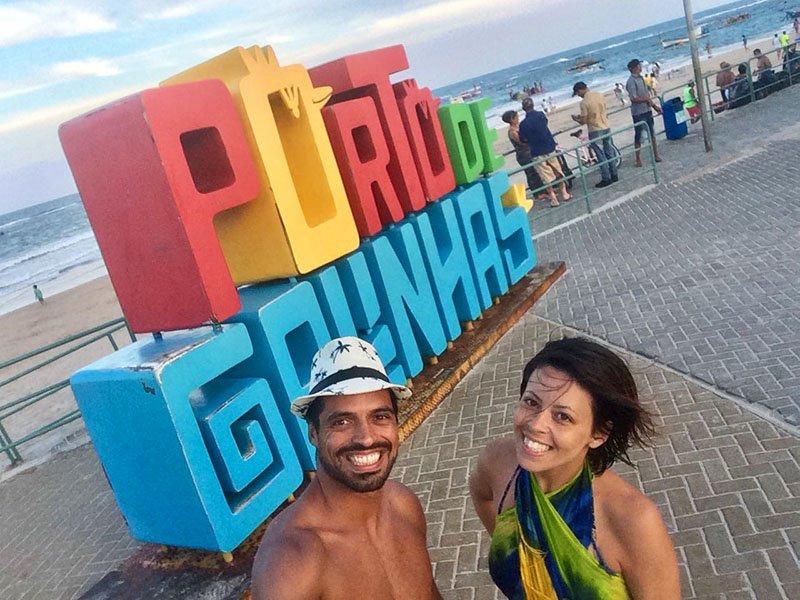 Letreiro em Porto de Galinhas roteiro praias de pernambuco