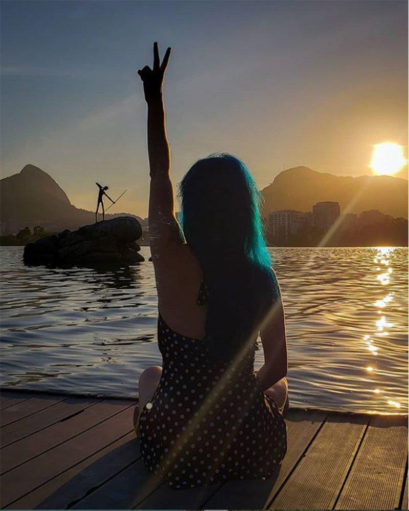 Por do sol no Rio de Janeiro direto da Lagoa