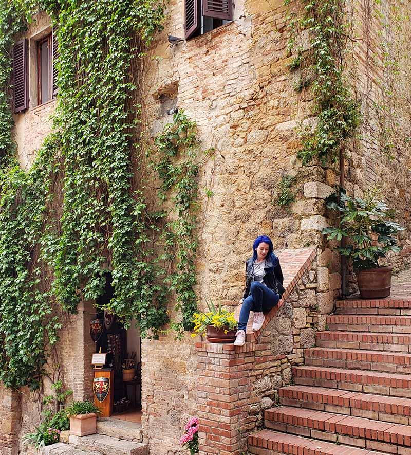 Cantinhos lindos de San Gimignano
