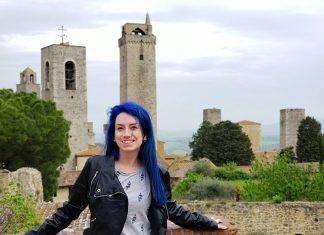 muralha com vista para torres de san gimignano