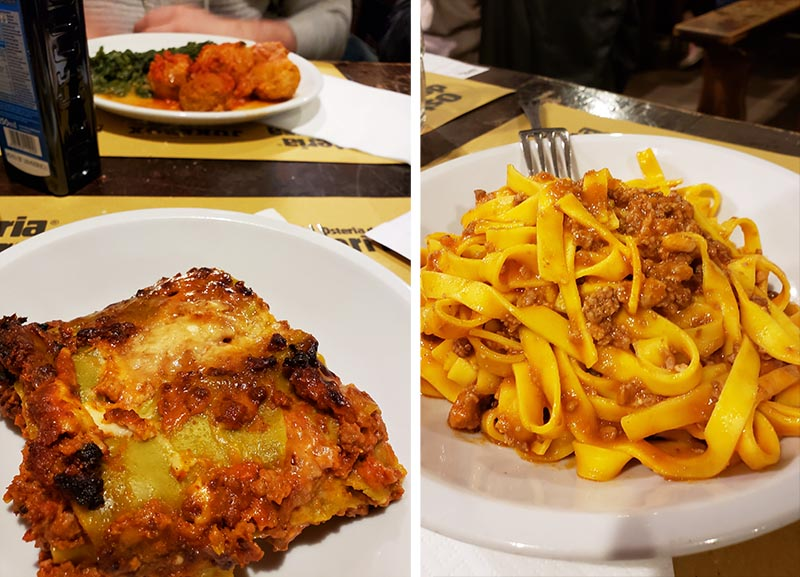 Pratos tradicionais de Bolonha: lasanha bolonhese e tagliatelle al ragu