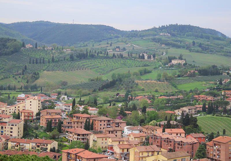 Paisagem típica da Toscana na Itália