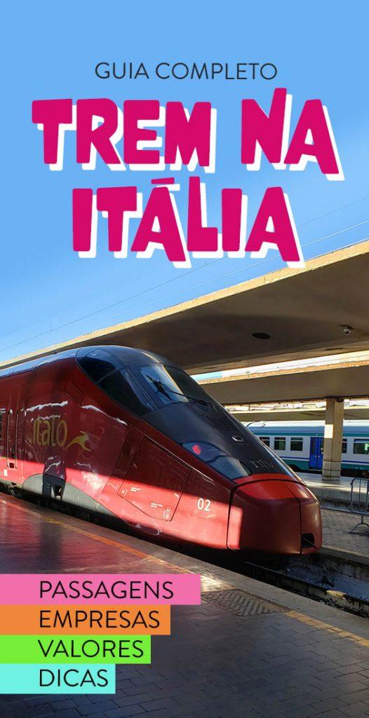 Guia de trem na Italia como comprar passagem barata