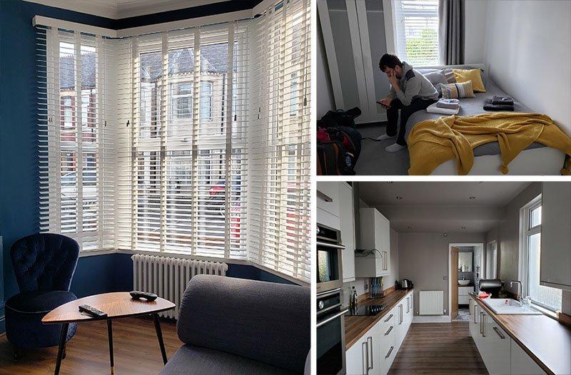 Apartamento que ficamos em Cardiff