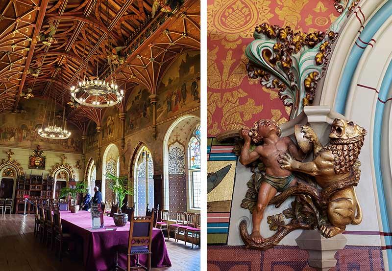 Detalhes do Palácio do Castelo de Cardiff