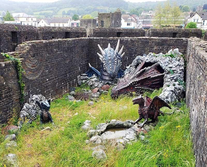 Dragões não faltam no País de Gales!