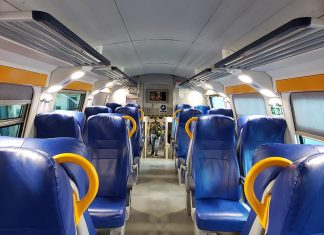 Interior do trem regional