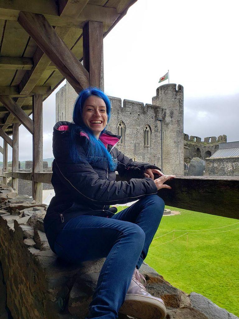 castelo de caerphilly no pais de gales