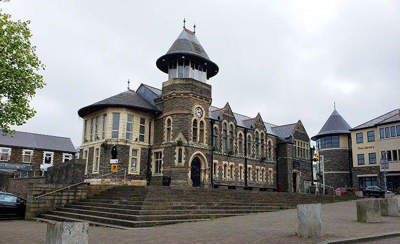 Centrinho de Caerphilly no País de Gales