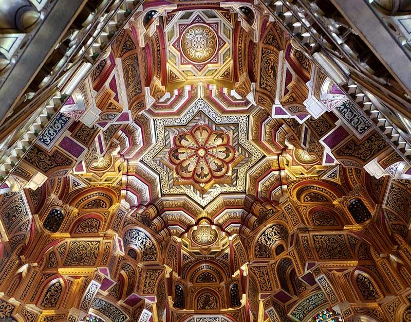 A incrível Sala Árabe dentro do Palácio