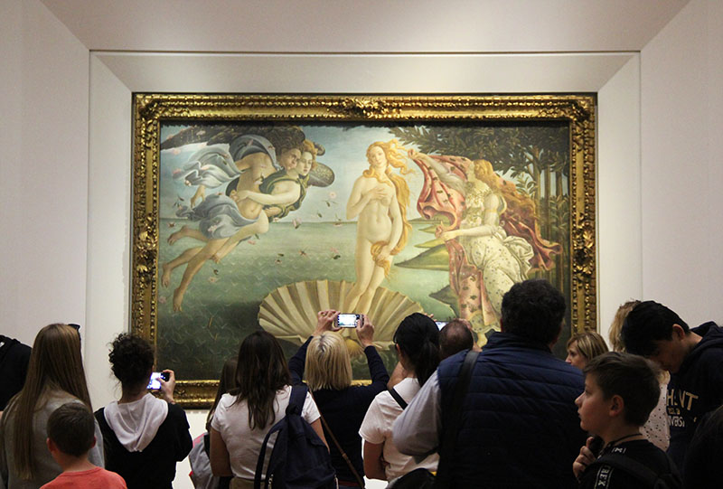 Nascimento da Vênus de Botticelli no museu