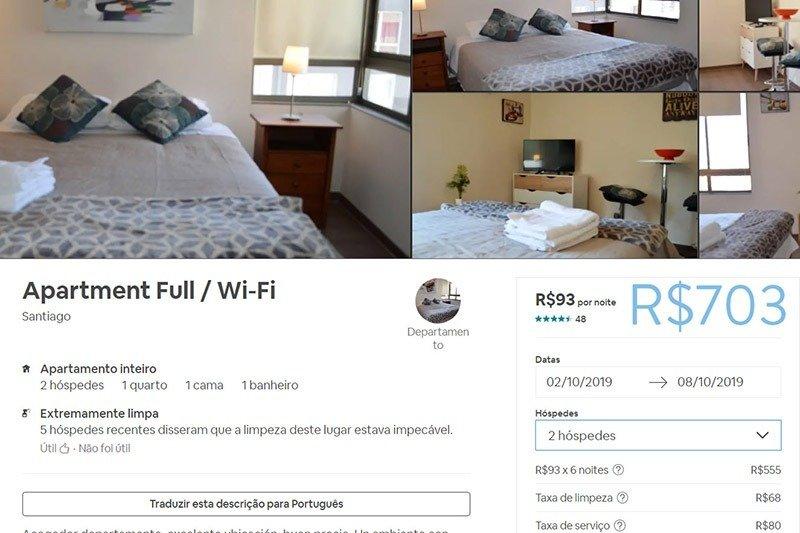 Hospedagem Airbnb em Santiago Chile