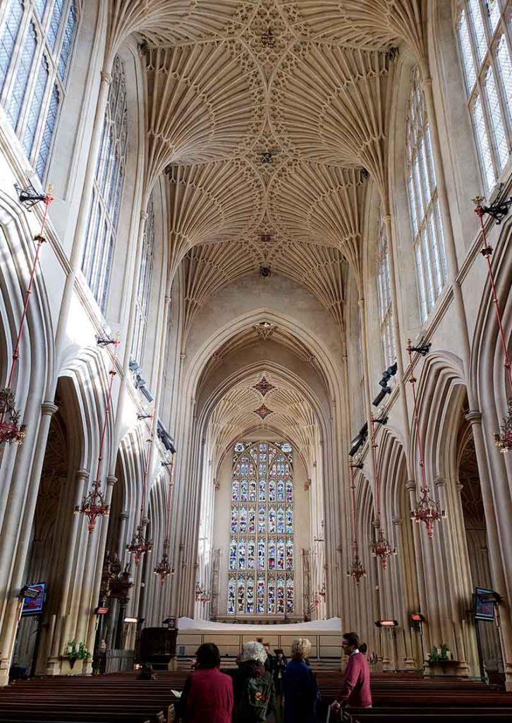 interior da bath abbey teto