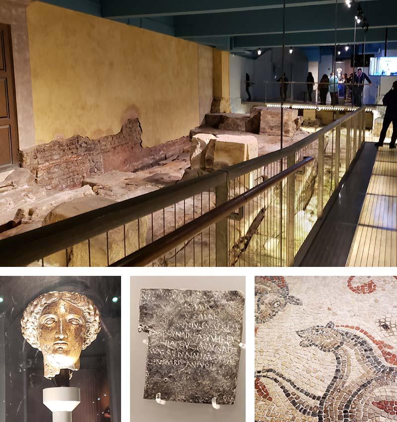 Interior e objetos no Roman Baths