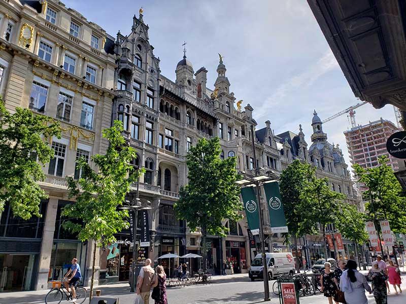 Antuérpia e seus prédios históricos