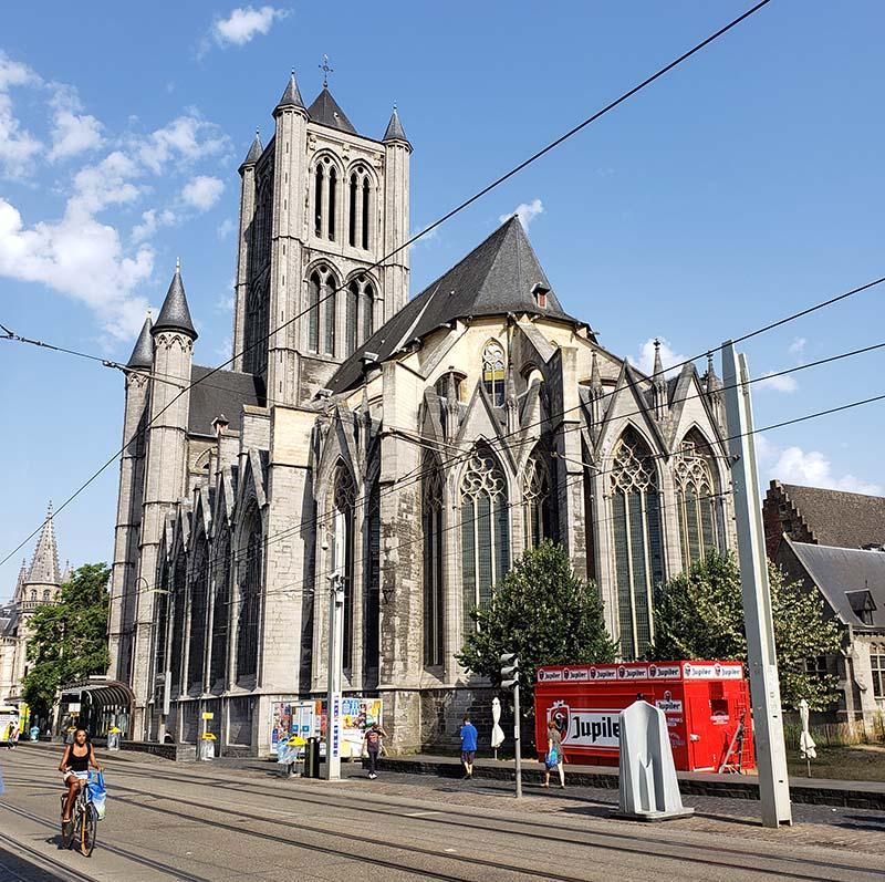 Igreja São Nicolau em ghent detalhe dos fundos