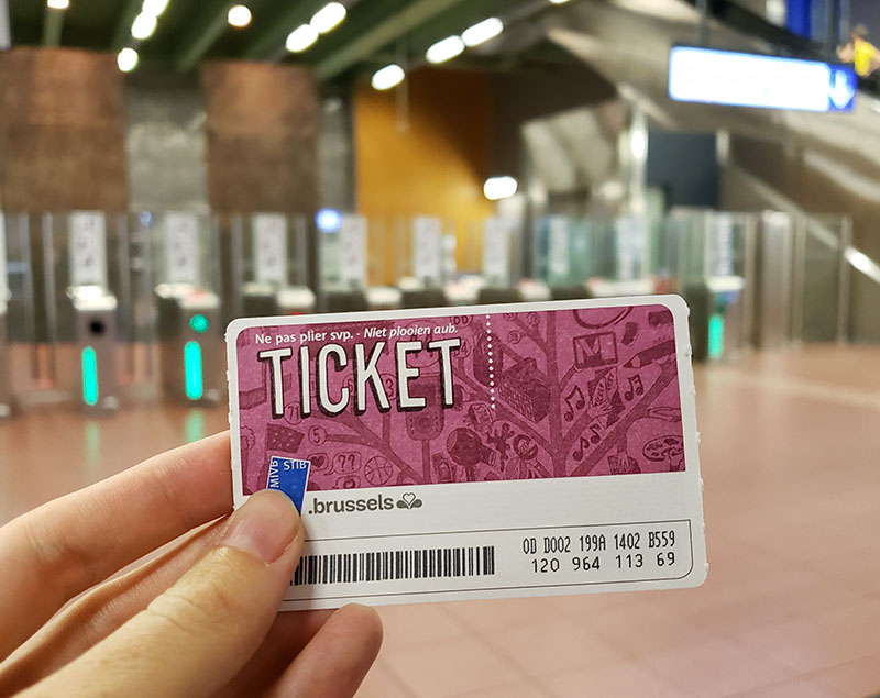 bilhete metro bruxelas transporte publico