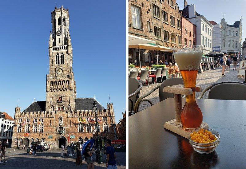 Campanário de Bruges e Cerveja Kwak