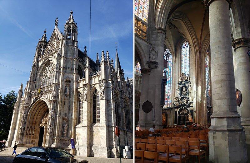 Catedral Notre Dame no bairro Sablon em Bruxelas
