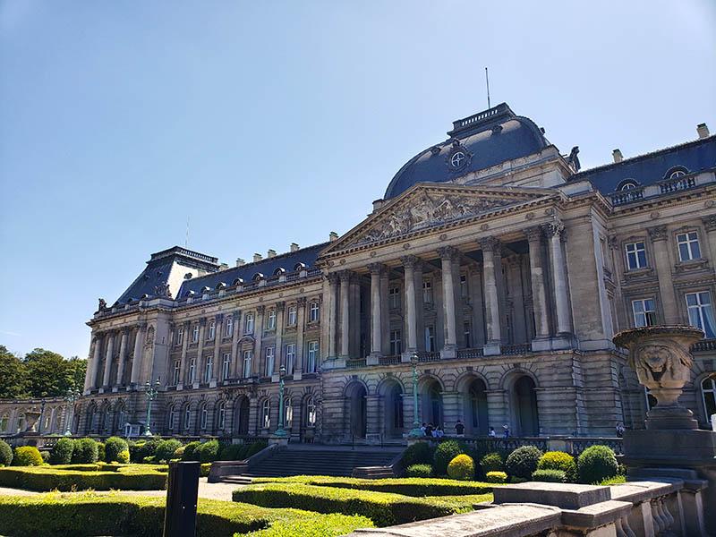 Fachada do Palácio Real em Bruxelas